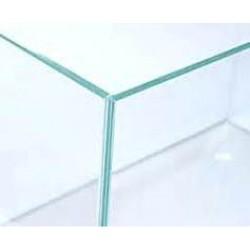 POOL Vollglasaquarium 80x35x35cm,  4 Seiten Weissglas, Silikon transparent